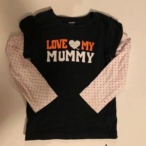4t Carter's Halloween Love my Mummy T-shirt